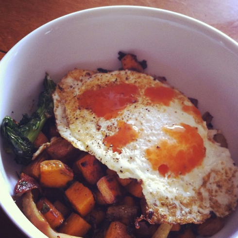 Fennel, Kale, Sweet Potato Hash